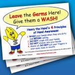 Leave the Germs Here Sink Reminders (Pack of 10)