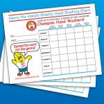 Home Weekly Handwashing Chart