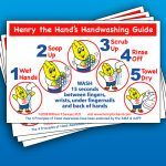 Handwashing Instruction Guide Static Clings (Pack of 10)
