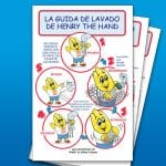 Hand Washing Instruction Poster (Spanish)