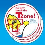 T Zone Stickers (100)
